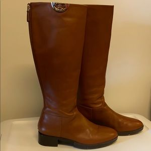 Tory Burch Tall Leather Flat Boots